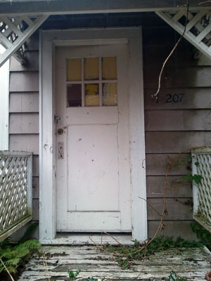 An Old House's Front Door on 86th