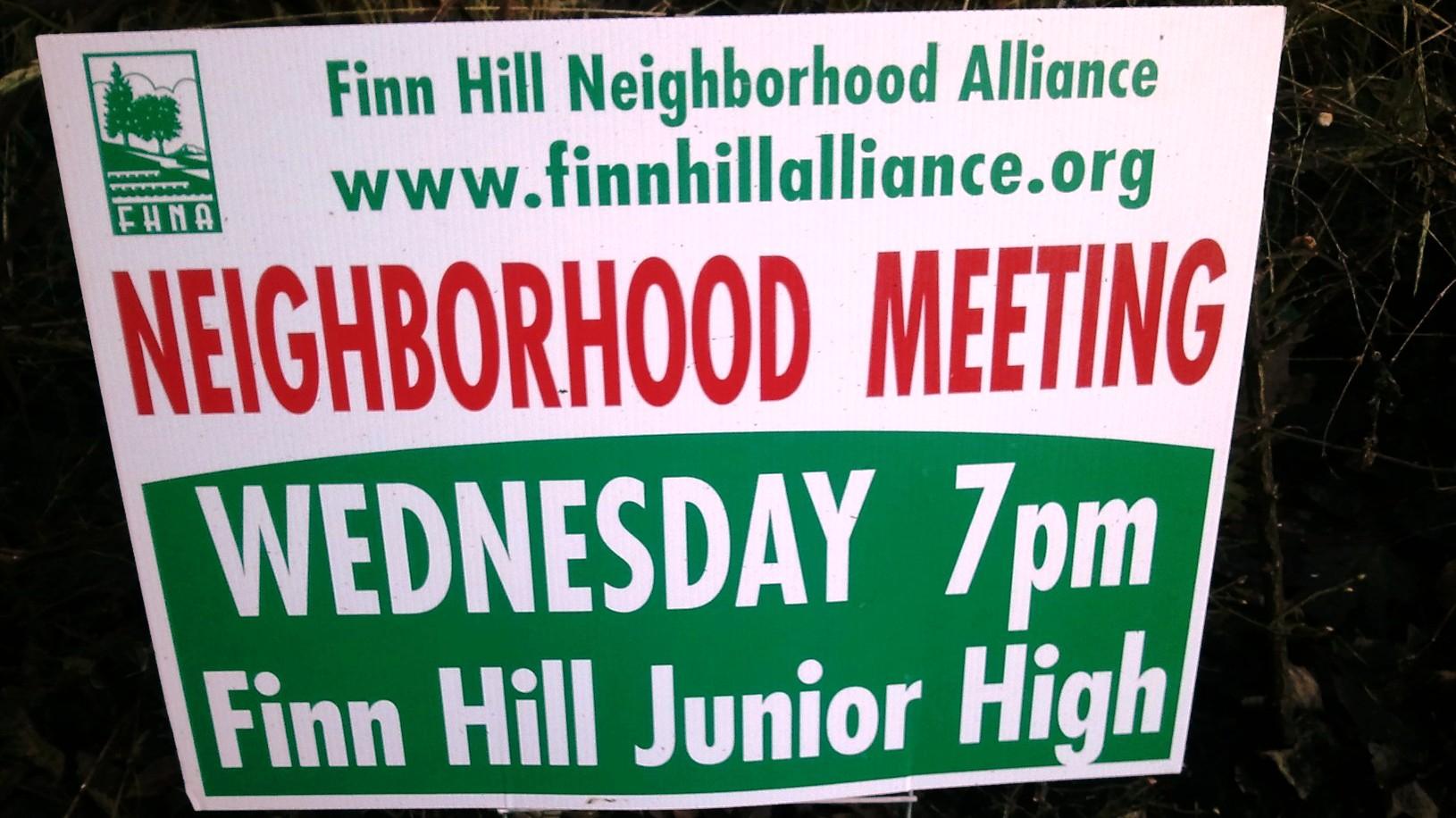 FHNA Neighborhood Mtg Sign