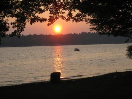 O.O. Denny Park sunset