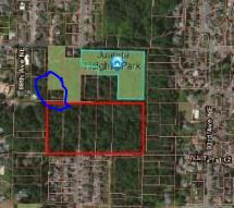 The Parcel for 10K is in blue.  The parcels in red are for sale, total of 8.23 acres.