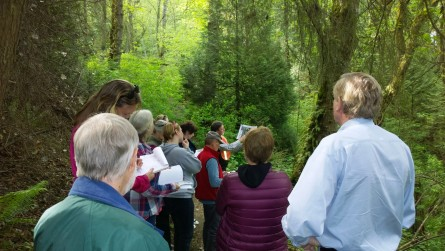 King County Conservation Trust Grant Committee 2016 tour of Juanita Heights expansion area.