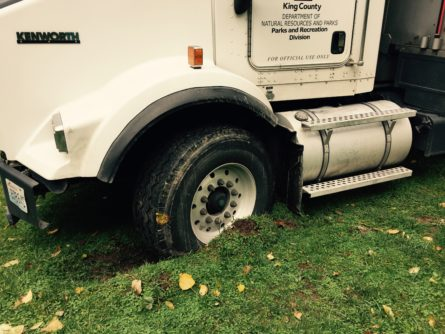 King County Truck Stuck in mud