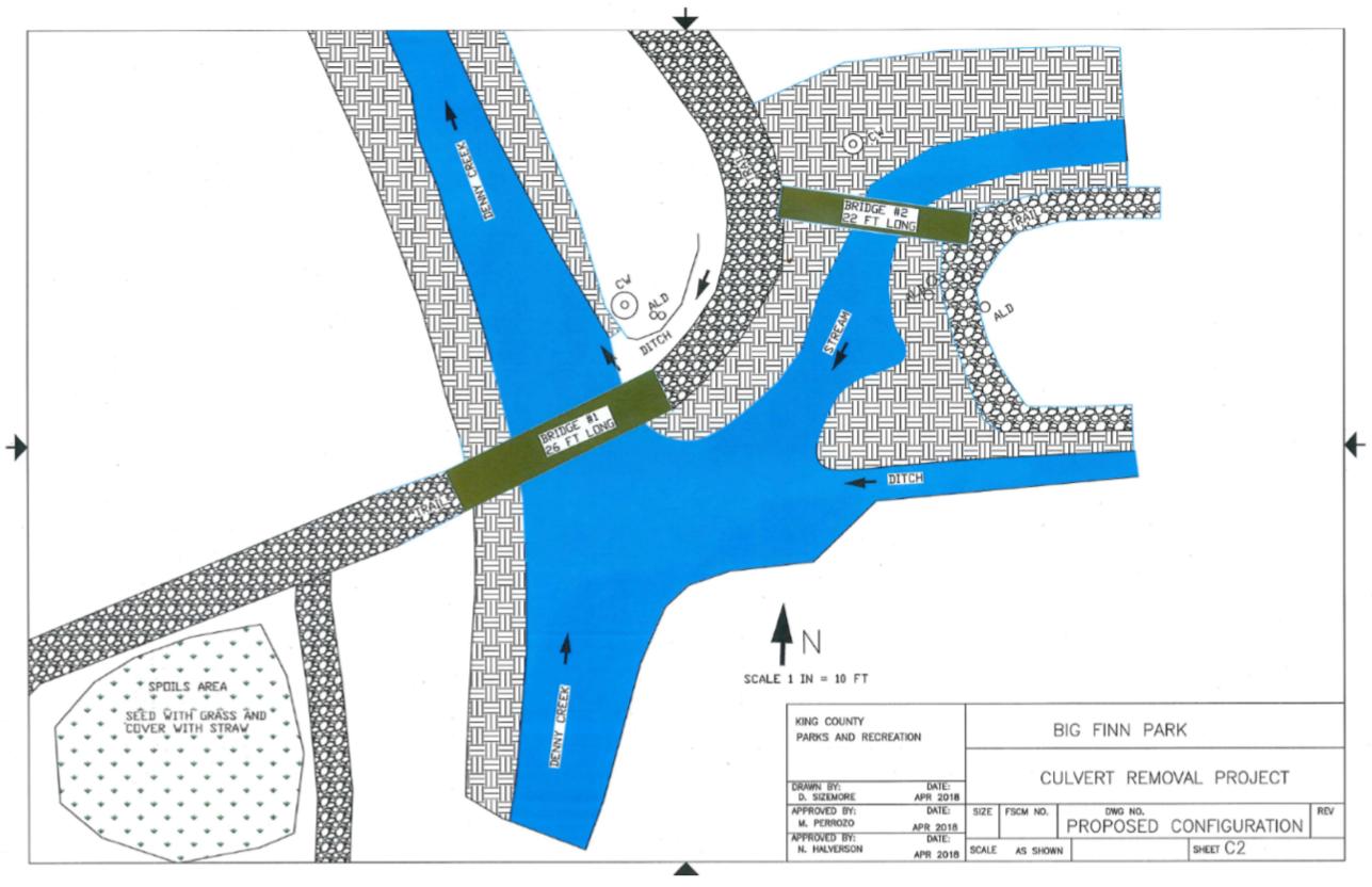Big Finn Hill Park: Temporary Trail Closure   Finn Hill Neighborhood Denny Creek Trail Map on
